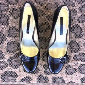 Black leather Bandolino's heels, 8 1/2 M